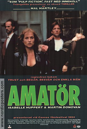 Amateur 1994 poster Isabelle Huppert Hal Hartley