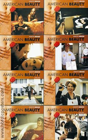 American Beauty 1999 lobby card set Kevin Spacey Sam Mendes