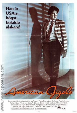 American Gigolo 1980 Movie poster Richard Gere Paul Schrader