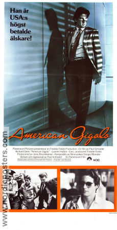 American Gigolo 1980 poster Richard Gere Paul Schrader