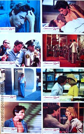 American Gigolo 1980 lobby card set Richard Gere Paul Schrader