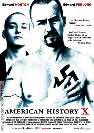 American History X 1998 poster Edward Norton