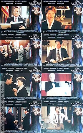 The American President 1995 lobby card set Michael Douglas