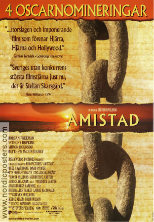 an analysis of the movie amistad The amistad revolt in january 1839, 53 african natives were kidnapped from eastern africa and sold into the spanish slave trade they were then placed aboard a.