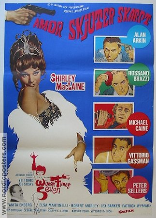 Woman Times Seven 1968 Movie poster Shirley MacLaine