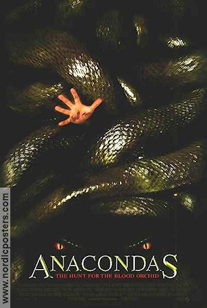 Anacondas: The Hunt for the Blood Orchid 2004 Movie poster Johnny Messner