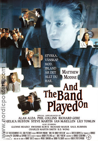 And the Band Played On 1993 Movie poster Alan Alda