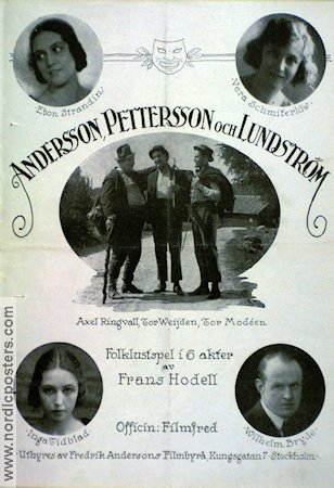 Andersson Pettersson och Lundström 1923 poster Axel Ringvall