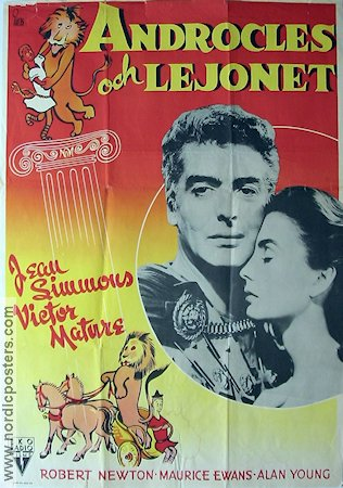 Androcles and the Lion 1953 Movie poster Jean Simmons