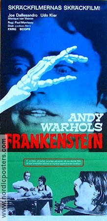 Andy Warhol´s Frankenstein 1975 poster Joe Dallesandro