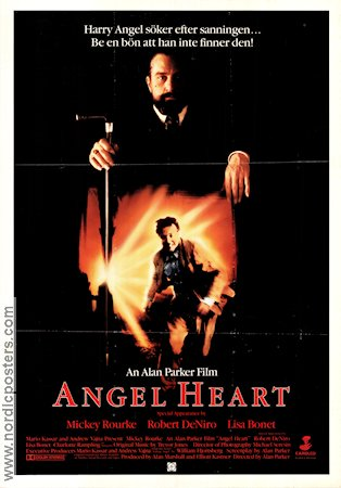 Angel Heart 1987 Movie poster Mickey Rourke Alan Parker