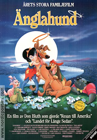 �nglahund 1990 Movie poster Don Bluth