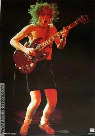 AC DC 1981 poster Angus Young
