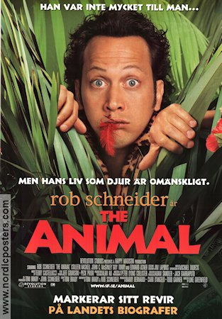 The Animal 2001 poster Rob Schneider Luke Greenfield