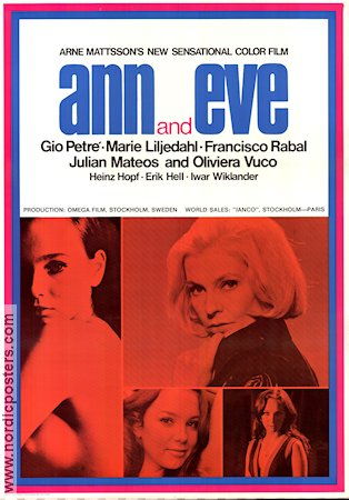 Ann and Eve 1969 Movie poster Gio Petré Arne Mattsson