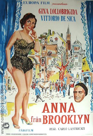 Anna di Brooklyn 1960 Movie poster Gina Lollobrigida Vittorio De Sica