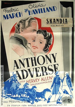 anthony adverse movie poster 1936 original nordic posters