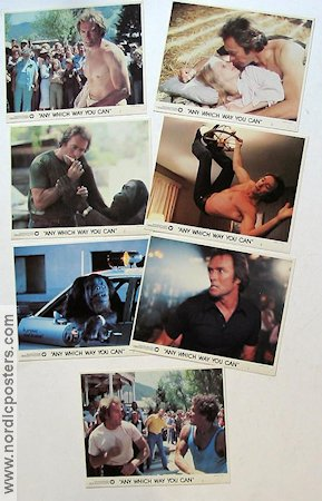 Any Which Way You Can 1980 lobby card set Clint Eastwood