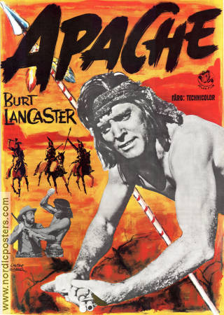 Apache 1954 Movie poster Burt Lancaster