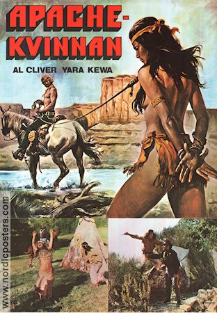 Una donna chiamata Apache 1977 Movie poster Al Cliver