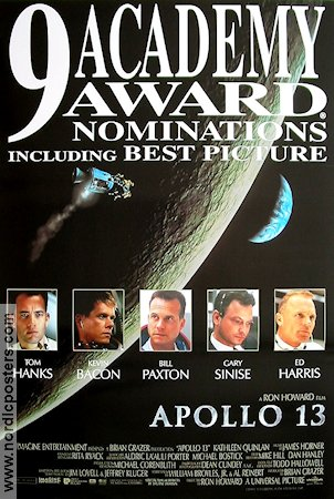 Apollo 13 1995 Movie poster Tom Hanks Ron Howard