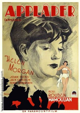 Applause 1933 Movie poster Helen Morgan Rouben Mamoulian