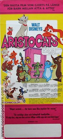 Aristocats 1971 Movie poster