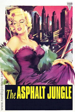 The Asphalt Jungle 1950 Movie poster Marilyn Monroe John Huston