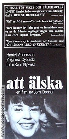 Att �lska 1964 Movie poster Harriet Andersson J�rn Donner
