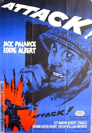Attack 1956 poster Jack Palance