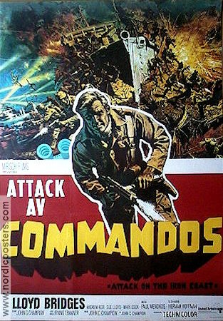 Attack on the Iron Coast 1968 Movie poster Lloyd Bridges