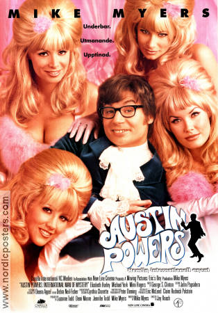 Austin Powers 1994 poster Mike Myers Jay Roach