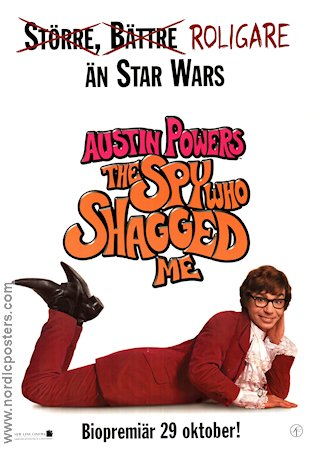 Austin Powers: The Spy Who Shagged Me 1999 poster Mike Myers Jay Roach