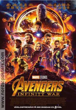 Avengers Infinity War 2018 poster Robert Downey Jr Anthony Russo