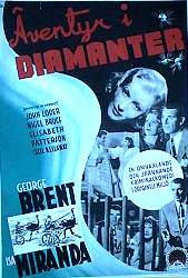 Adventure in Diamonds 1940 poster George Brent