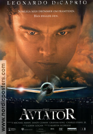 The Aviator 2004 Movie poster Leonardo di Caprio Martin Scorsese