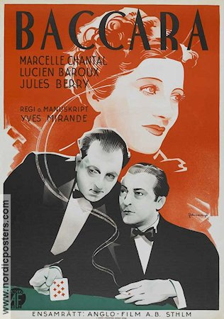 Baccara 1935 poster Marcelle Chantal