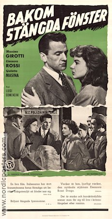 Persiane Chiuse 1953 Movie poster Massimo Girotti
