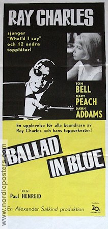 Ballad in Blue 1966 poster Ray Charles