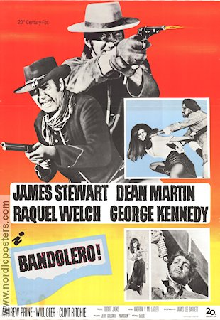 Bandolero Movie Poster 1968 Original Nordicposters