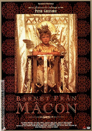 Baby of Macon 1993 Movie poster Ralph Fiennes Peter Greenaway