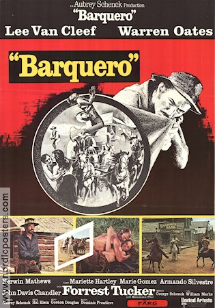 Barquero 1970 Movie poster Lee Van Cleef Gordon Douglas