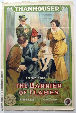 The Barrier of Flames 1914 poster Philip Lonergan