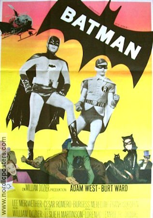 Batman 1967 Movie poster Adam West