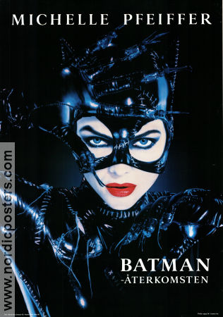 Batman Returns 1992 Movie poster Michelle Pfeiffer