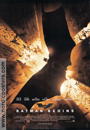 Batman Begins 2005 Movie poster Christian Bale Christopher Nolan