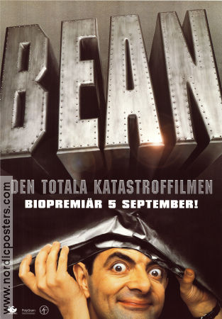 Mr Bean 1997 Movie poster Rowan Atkinson