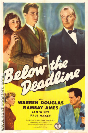 Below the Deadline 1946 poster Warren Douglas