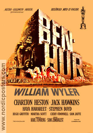 Ben-Hur 1962 poster Charlton Heston William Wyler