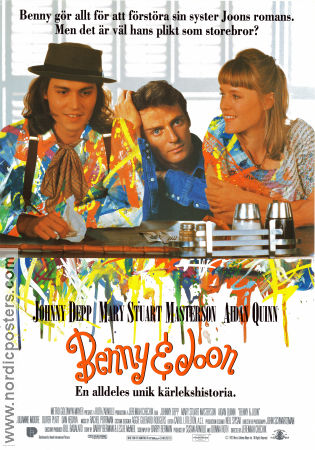 Benny and Joon 1993 poster Johnny Depp